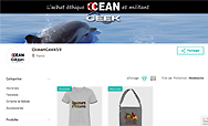Aperçu du marketplace Ocean Geek sur spreadshirt.fr